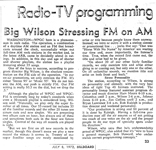 WPGC - Big Wilson Stressing FM On AM