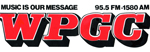 WPGC Bumpersticker - Block Letter Logo with Music Is Our Mesage positioner