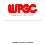 WPGC Reel To Reel Box Label - Balloon Letter Logo only