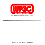 WPGC Reel To Reel Box Label - Block Letter Logo with oval