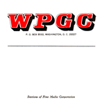 WPGC Reel To Reel Box Label - Block Letter Logo
