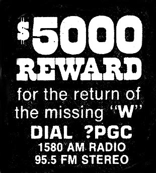 WPGC $5,000 Reward Ad