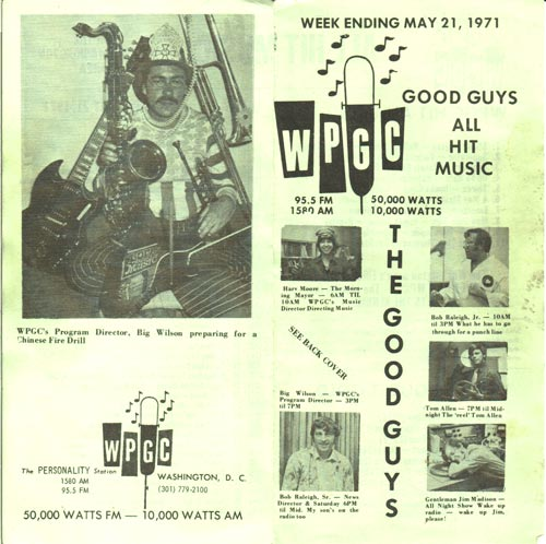 WPGC Music Survey Weekly Playlist - 05/21/71 - outside
