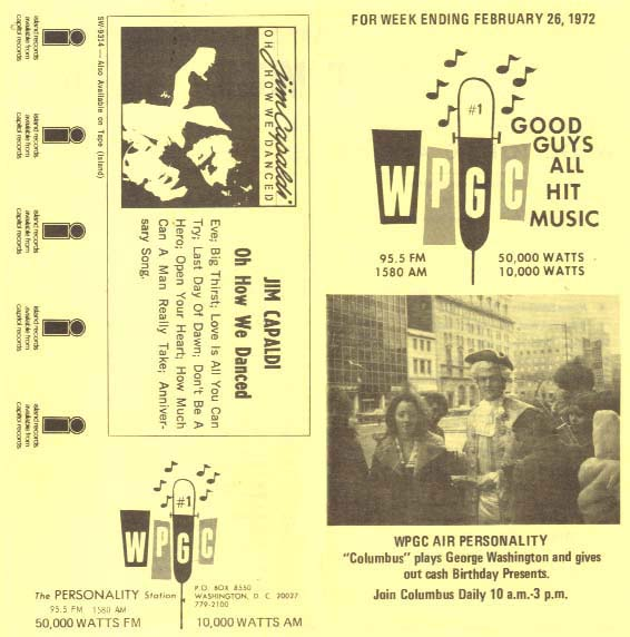 WPGC Music Survey Weekly Playlist - 02/26/72 - Outside