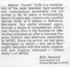 WPGC - Cousin Duffy Liner Notes