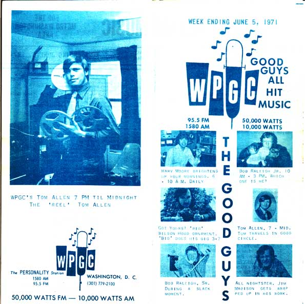 WPGC Music Survey Weekly Playlist - 06/05/71 - Outside