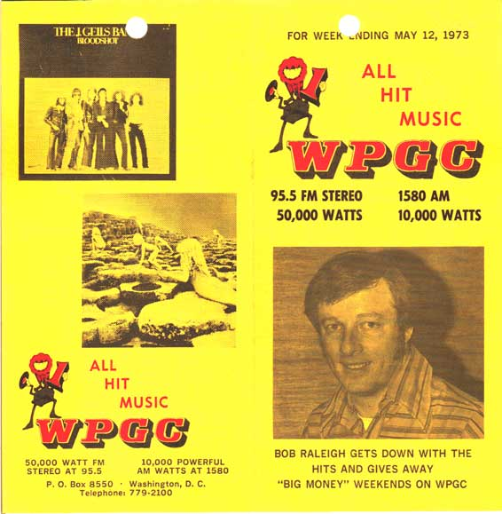WPGC Music Survey Weekly Playlist - 05/12/73 - Outside