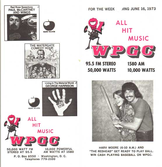 WPGC Music Survey Weekly Playlist - 06/16/73 - Outside