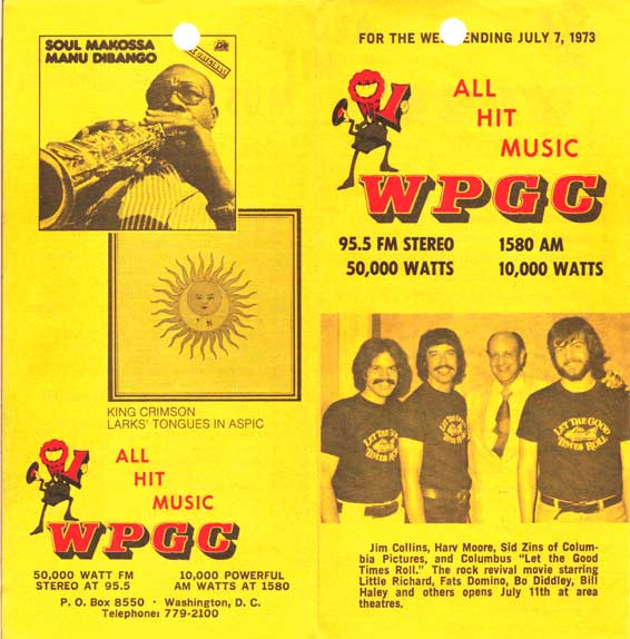 WPGC Music Survey Weekly Playlist - 07/07/73 - Outside