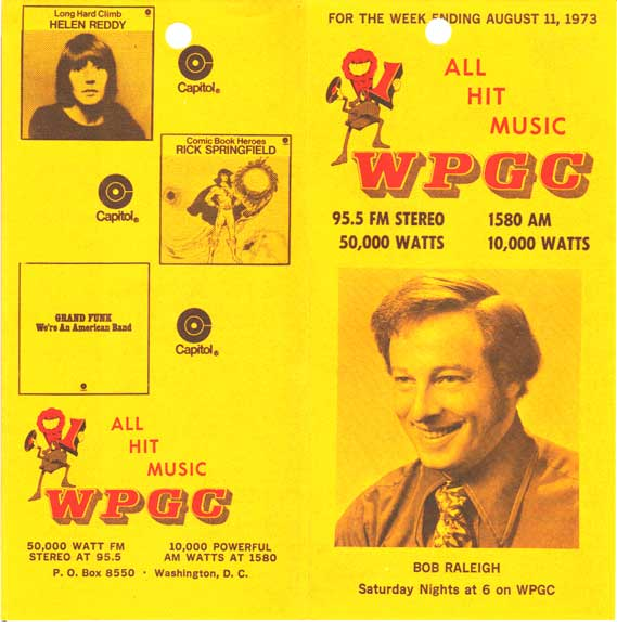 WPGC Music Survey Weekly Playlist - 08/11/73 - Outside