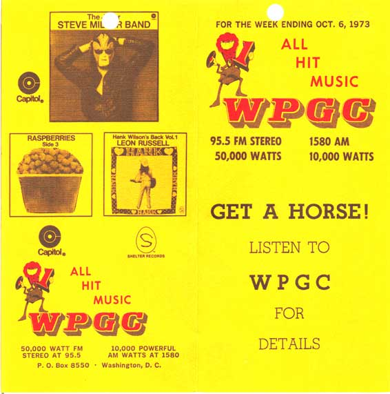 WPGC Music Survey Weekly Playlist - 10/06/73 - Outside
