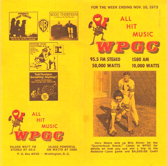 WPGC Music Survey Weekly Playlist - 11/10/73 - Outside