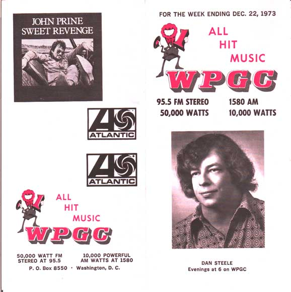 WPGC Music Survey Weekly Playlist - 12/22/73 - Outside