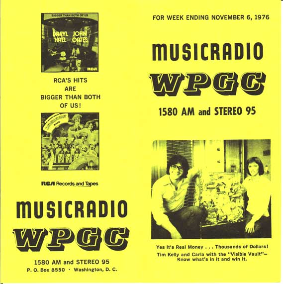 WPGC Music Survey Weekly Playlist - 11/06/76 - Outside