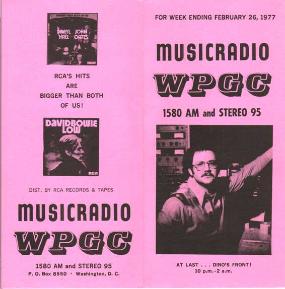 WPGC Music Survey Weekly Playlist - 02/26/77 - Outside