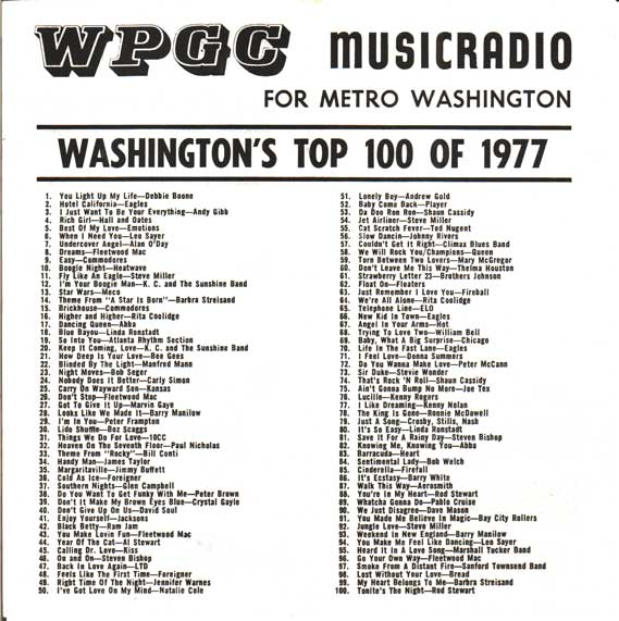 WPGC Top 100 of 1977 - Inside