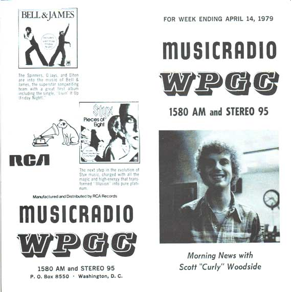 WPGC Music Survey Weekly Playlist - 04/14/79 - Outside