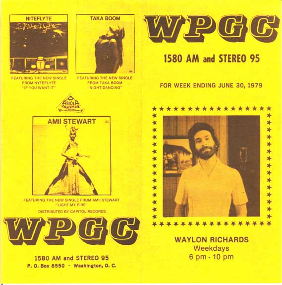 WPGC Music Survey Weekly Playlist - 06/30/79 - Outside