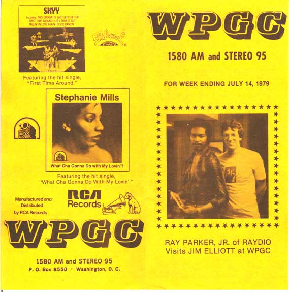 WPGC Music Survey Weekly Playlist - 07/14/79 - Outside