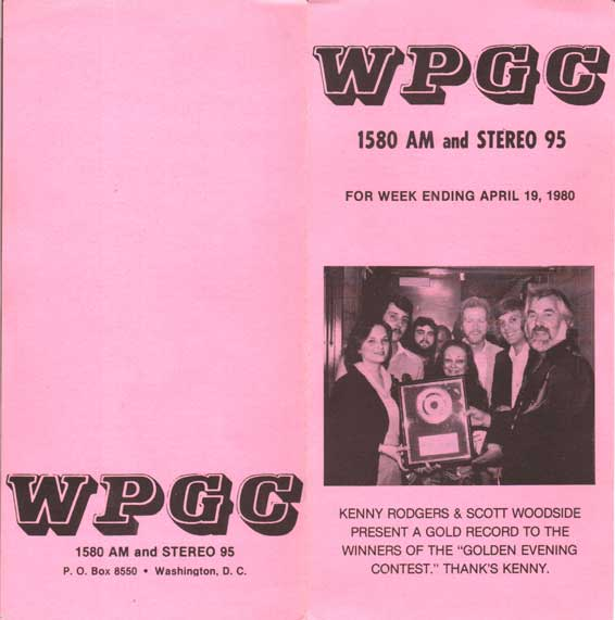 WPGC Music Survey Weekly Playlist - 04/19/80 - Outside