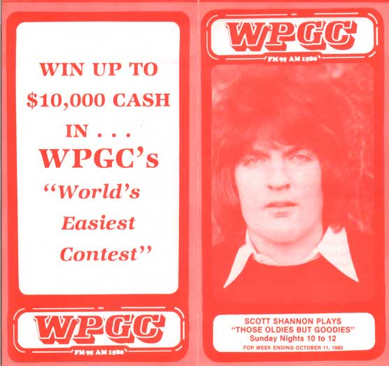 WPGC Music Survey Weekly Playlist - 10/11/80 - Outside