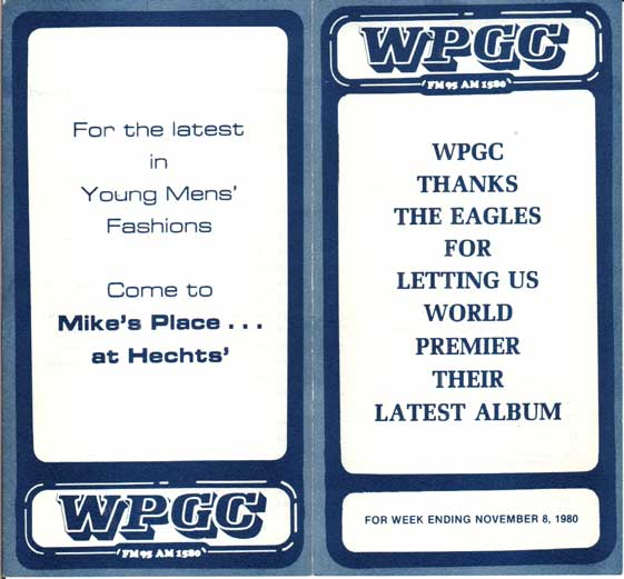 WPGC Music Survey Weekly Playlist - 11/08/80 - Outside