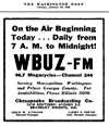 WPGC - WBUZ-FM On The Air Today